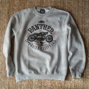 BLUE PANTHER Cafe Racre California Man Sweatshirt - Gray