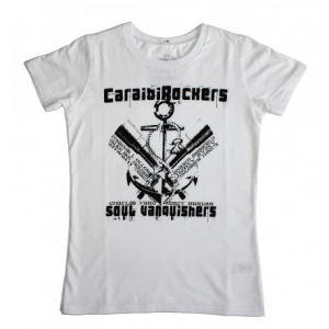 CARAIBIROCKERS SOUL VANQUISHERS Woman T-shirt - White