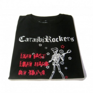 CARAIBIROCKERS LIVE FAST Woman T-shirt - Black