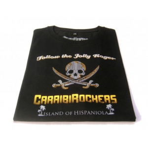 CARAIBIROCKERS JOLLY ROGER Woman T-shirt - Black