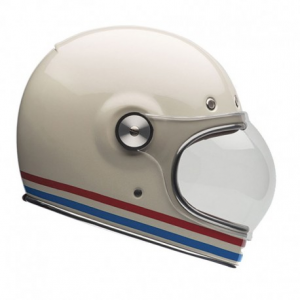 BELL BULLITT STRIPES Full Face Helmet - Pearl White