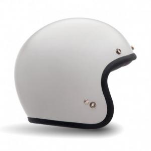 BELL CUSTOM 500 SOLID VINTAGE WHITE Jet Helmet - White