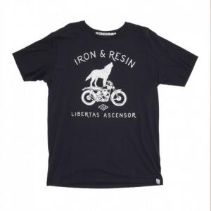 IRON & RESIN Howling Man T-Shirt - Blue