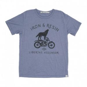 IRON & RESIN Howling Man T-Shirt - Washed Blue
