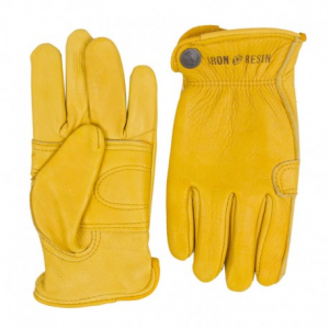 IRON & RESIN Cafe Glove Motorcycle Gloves - Gold