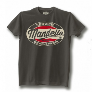 JOHNNY RAPINA Mandello Genuine Parts Man T-shirt - Grey