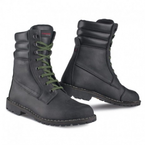 STYLMARTIN Urban INDIAN BLACK Laces Green Man Boots - Black