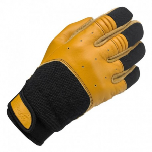 BILTWELL Bantam Motorcycle Gloves - Black/Yellow