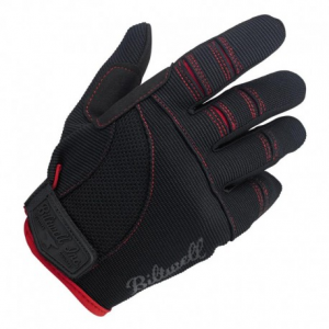 BILTWELL Moto Motorcycle Gloves - Black/Red