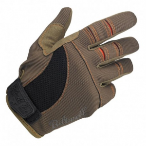 BILTWELL Moto Motorcycle Gloves - Brown/Orange