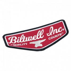 BILTWELL Shield Patch - Rosso - 11,5x5 cm