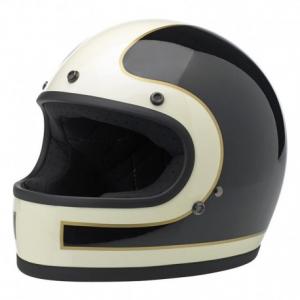 BILTWELL Gringo LE TRACKER Full Face Helmet - Vintage White/Black