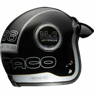 BULTACO MK2 Metralla Open Face Helmet Black - Special Offer