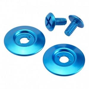 BILTWELL Gringo S Visor Hardware Kit - Blue