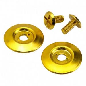 BILTWELL Gringo S Visor Hardware Kit - Gold