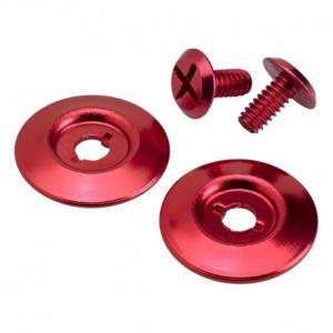 BILTWELL Gringo S Visor Hardware Kit - Red
