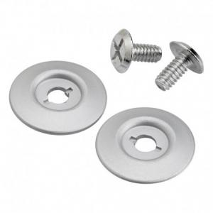 BILTWELL Gringo S Visor Hardware Kit - Silver