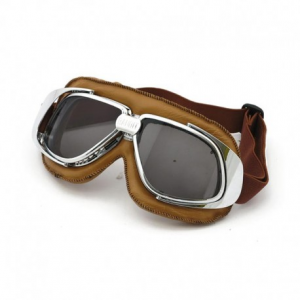BANDIT CLASSIC Helmet Goggles - Brown with Smoked Lenses