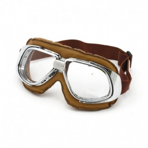 BANDIT CLASSIC Helmet Goggles - Brown with Clear Lenses