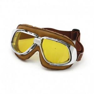 BANDIT CLASSIC Helmet Goggles - Brown with Yellow Lenses