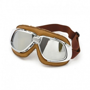 BANDIT CLASSIC Helmet Goggles - Brown with Mirror Lenses