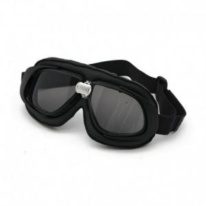 BANDIT CLASSIC Helmet Goggles - Black with Smoked Lenses