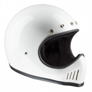 BANDIT HISTORIC MX Full Face Helmet - White and Black