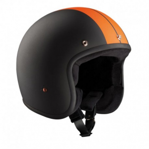 BANDIT RACE ECE Jet Helmet - Black and Orange