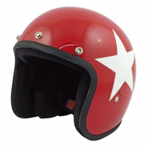 BANDIT STAR Jet Helmet - Red
