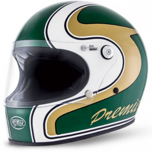 PREMIER Trophy M Green Full Face Helmet - Green - Special Offer