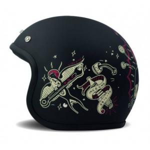 DMD VINTAGE BORN FREE Jet Helmet - Black