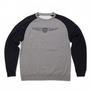 ROLAND SANDS DESIGN Crew 74 Man Sweatshirt - Grey/Black