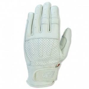 ROLAND SANDS DESIGN Barfly Motorcycle Gloves - White