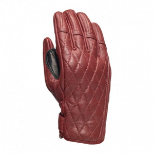 ROLAND SANDS DESIGN Riot Woman Motorcycle Gloves - Blood Red