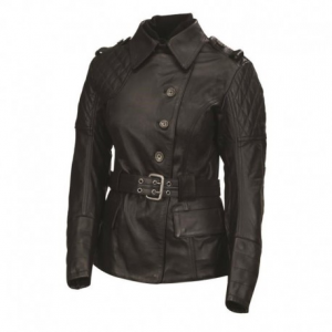 ROLAND SANDS DESIGN Oxford Leather Jacket Woman - Black