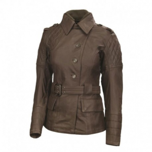 ROLAND SANDS DESIGN Oxford Leather Jacket Woman - Brown