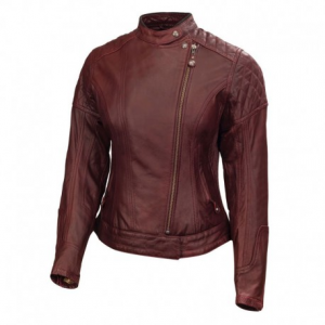 ROLAND SANDS DESIGN Riot Leather Jacket Woman - Blood Red