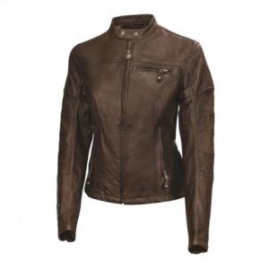 ROLAND SANDS DESIGN Maven Leather Jacket Woman - Tobacco Brown