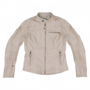 ROLAND SANDS DESIGN Maven Giubbotto in Pelle Donna - Crema