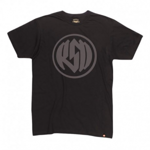 ROLAND SANDS DESIGN Logo Man T-Shirt - Black/Reflective Grey
