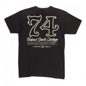 ROLAND SANDS DESIGN Seventy Four Man T-Shirt - Black