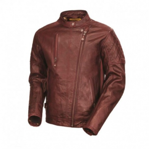 ROLAND SANDS DESIGN Clash Leather Jacket Man - Blood Red