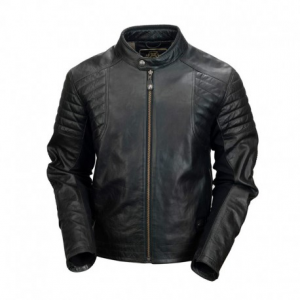 ROLAND SANDS DESIGN Bristol Leather Jacket Man - Black