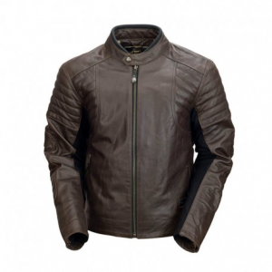 ROLAND SANDS DESIGN Bristol Leather Jacket Man - Dark Brown