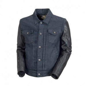 ROLAND SANDS DESIGN Honcho Textile Jacket Man - Denim/Black