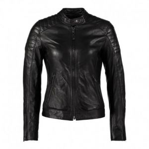 SCHOTT NYC Harvey Leather Jacket Woman - Black