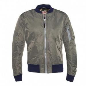 SCHOTT NYC American College Camouflage Textile Jacket Man - Khaki/Blue