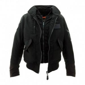 SCHOTT NYC Vintage CWU Pilot Textile Jacket Man - Black