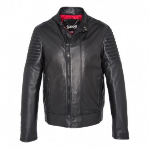 SCHOTT NYC Biker Leather Jacket Man - Black