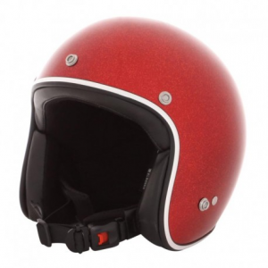 HOLY FREEDOM Metalflake Open Face Helmet - Red - Special Offer